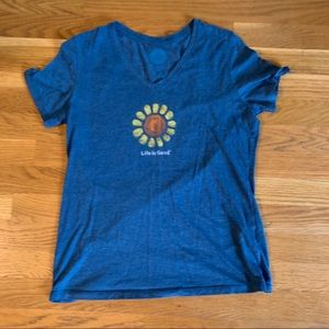 Life is Good Sunflower T-shirt